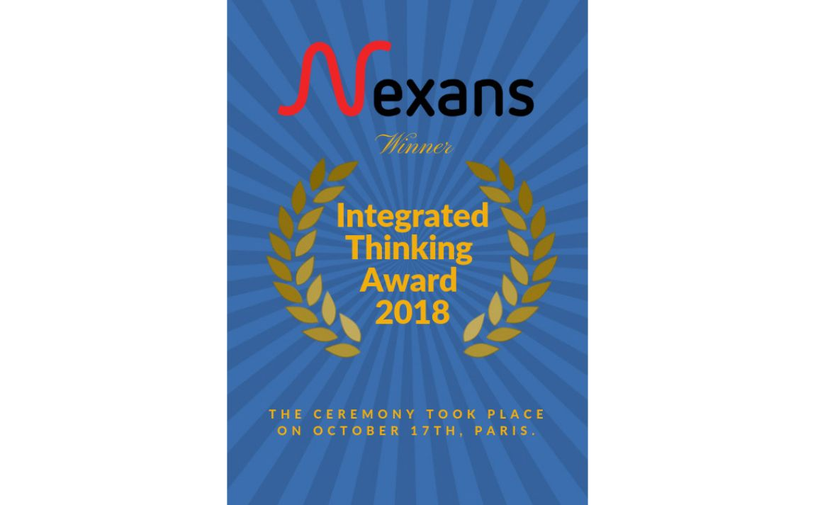 Nexans is delighted to be the winner of The Integrated Thinking Award 2018.