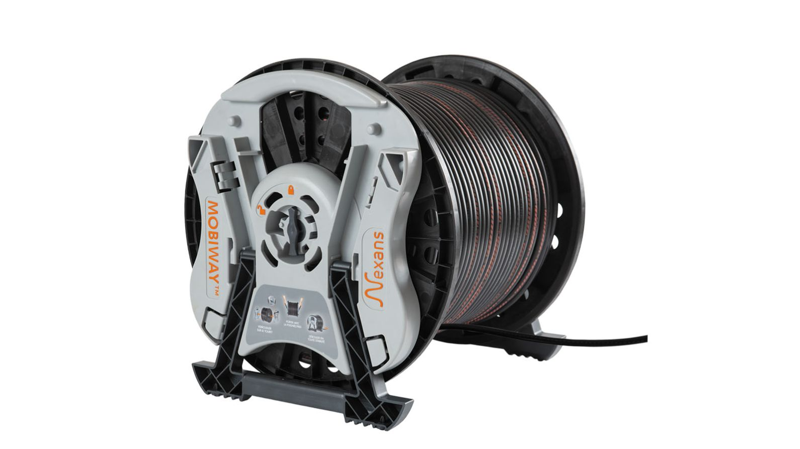 MOBIWAY™ BY NEXANS - Reusable system allowing for easy carrying and unwinding of your cable drums