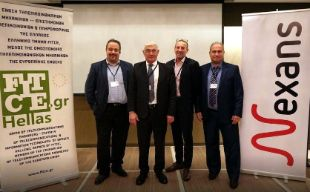 From left to right: Andreas Kapsis, Mr Kostantinos Sidiropoulos (president of FITCE Hellas), Jean-Jacques Sage and George Kyrmoutsos.