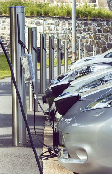 Electric vehicle Nexans charging station